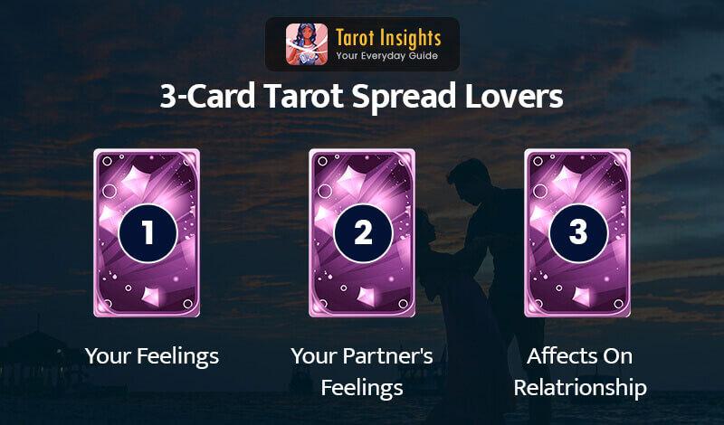 3-Card Tarot spread lovers