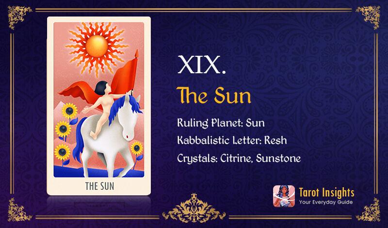 The Sun Love Tarot Card